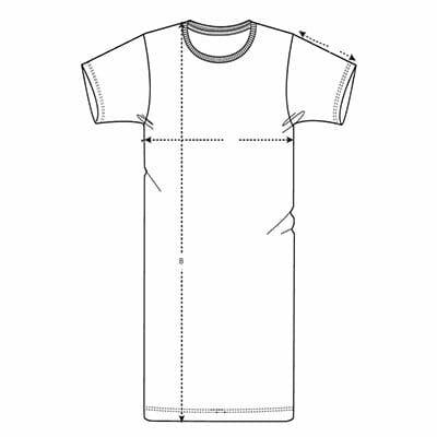 tallaje vestido tipo camiseta