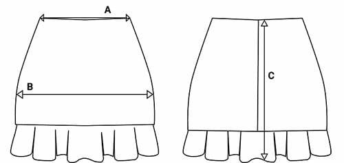 tallas falda corta mini chillandbuy