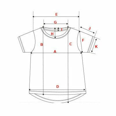 tallas camisetas chillandbuy