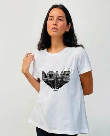 BASICA BL SNOOPY LOVE PATA DE GALLO